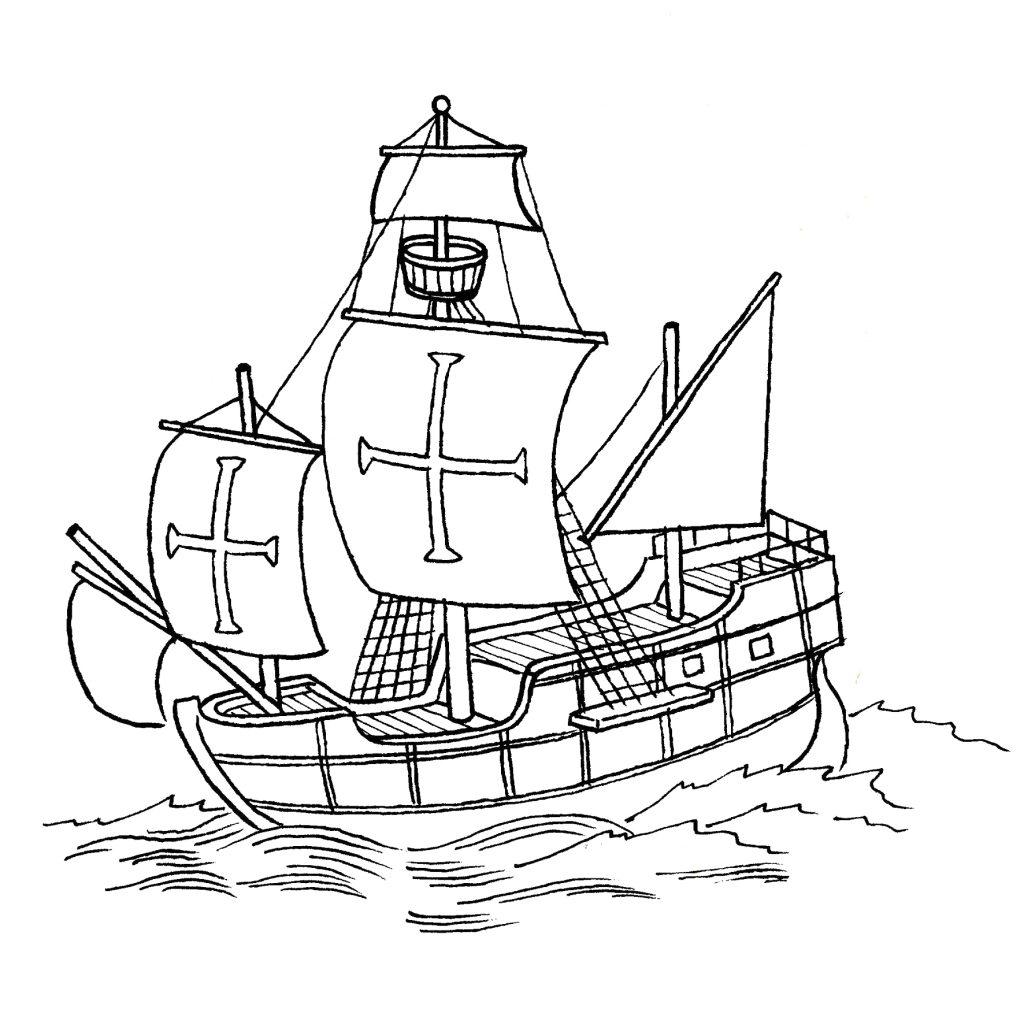Une caravelle, portée par les vents d'est.