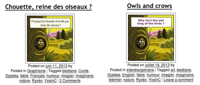 Deux versions de la fable.