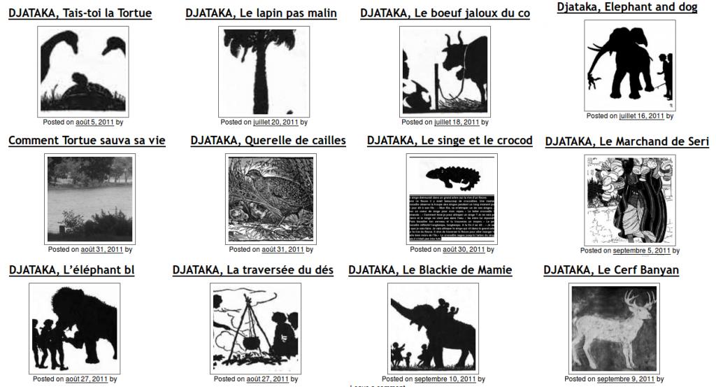 Douze contes de Djataka.