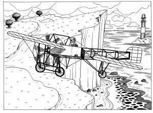 Louis Blériot traverse la Manche