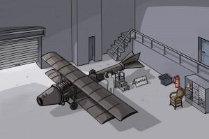 Premier avion à propulsion réactive d'Henri Coandă