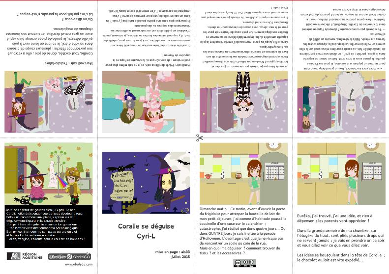 Coralie en mini-livre avec Scribus
