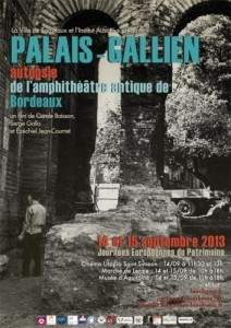 """Affiche de l'exposition de 2013 pour les Journées du patrimoine """"Ad arenas"""""""