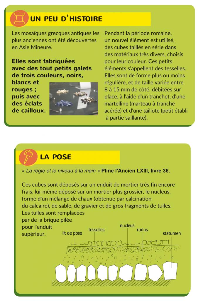 Page 2 de la fiche sur les mosaïques