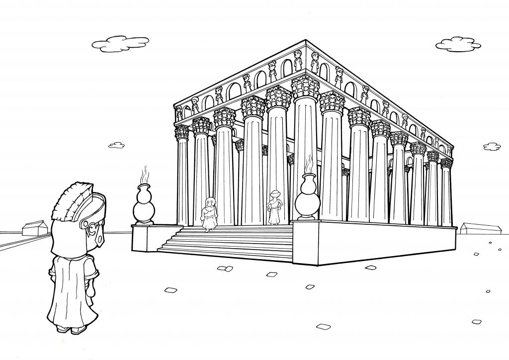 Sylvanus au pied du monument dominant Burdigala (Thomas Dubos, cc-by-sa 20160531)